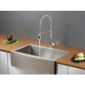 Ruvati RVC2436 Combo Stainless Steel Kitchen Sink and Chrome Faucet Set
