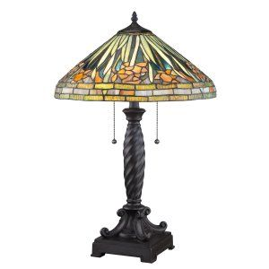 Quoizel TF1599TWT Tiffany Greenwood Tiffany Table Lamp