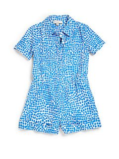 Stella McCartney Kids Toddlers & Little Girls Silk Spot Print Romper   Blue