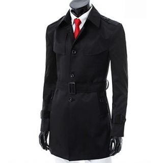 MenS Fashion Casual Trench Coat