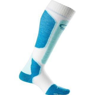 Icebreaker Ski+ Lite Socks   Merino Wool  Over the Calf (For Women)   BLIZZARD/BELIZE (S )