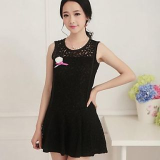 Womens Lace Slim Sleeveless Dress