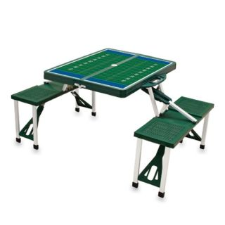 Hunter Green Folding Picnic Table With Football Imprint   811 00 121 981 0