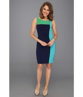 Vince Camuto Colorblock Sheath Dress Womens Dress (Navy)