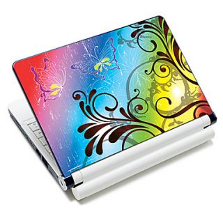 Colorful Batterfly Pattern Laptop Notebook Cover Protective Skin Sticker For 10/15 Laptop 18602