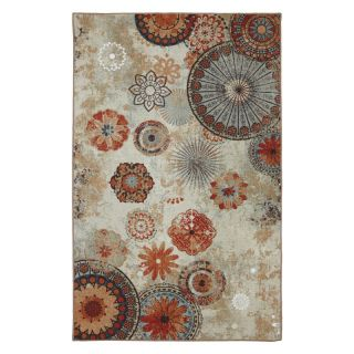 Mohawk Home Alexa Medallion Indoor/Outdoor Rug Multicolor   11738 416 M60096, 5