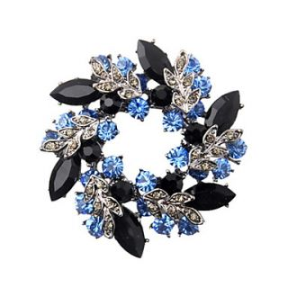 Fashion Gun Color Plated Alloy With Crystal/Rhinestone Brooch(More Colors)