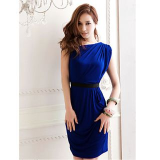 Womens Sexy Sloping Shoulder Mini Dress