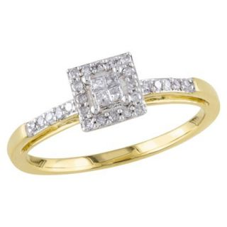 Tevolio 0.2 CT.T.W. Princess Cut Diamond Prong Set Engagement Ring in 10K
