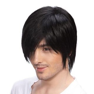 Top Grade Quality Human Hair Mens Wigs 4 Colors to Choose