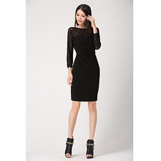Womens Lace Dress(Black)