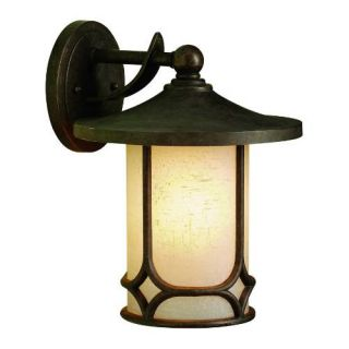 Kichler 9366AGZ Outdoor Light, Arts and Crafts/Mission Wall 1 Light Fixture Aged Bronze