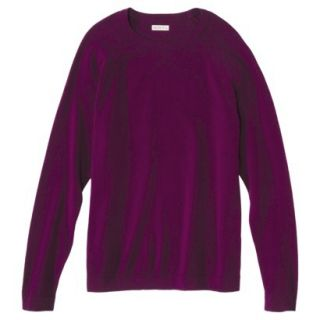 Merona Mens Cotton Cashmere Pullover Sweater   Wineberry M