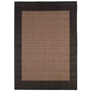 Couristan Recife Checkered Field Indoor/Outdoor Area Rug   Cocoa/Black