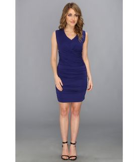 Nicole Miller Sirlene Stretch Matte Jersey Dress Womens Dress (Blue)
