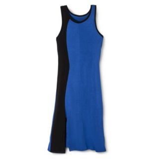 Mossimo Womens Colorblock Midi Dress   Blue/Black L