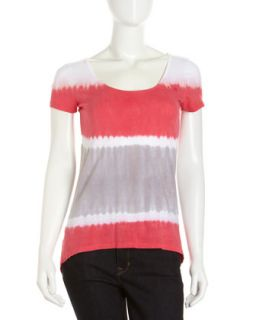 Ombre Short Sleeve Tee, Pink/Orange