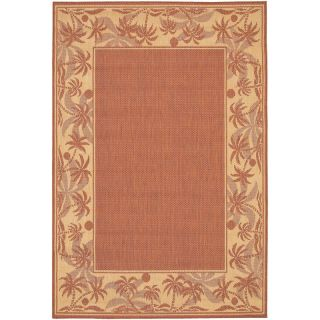 Couristan Recife Island Retreat Indoor/Outdoor Area Rug   Terra Cotta/Natural