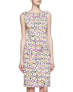 Print Stretch Dress, Blossom