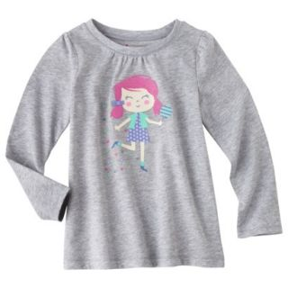 Circo Infant Toddler Girls Long sleeve Tee   Grey 2T