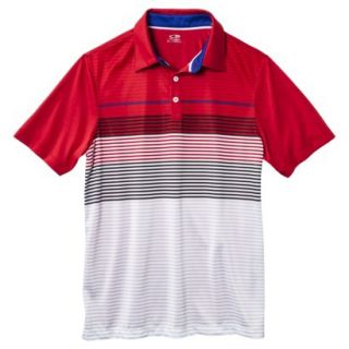 C9 by Champion Mens Advanced Striped Golf Polo Shirt   Red XXL