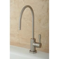 Contemporary Satin Nickel Single handle Water Filter Faucet