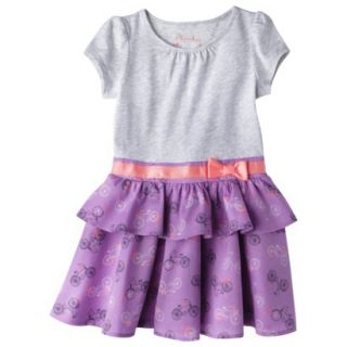Cherokee Infant Toddler Girls Convertible Dress   Grey 4T
