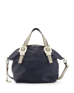 Jinx Pebble Leather Domed Top Convertible Satchel/Shoulder Bag,