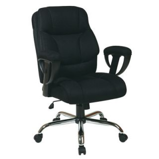 Office Star Mesh Executive Office Chair with Padded Height Adjustable Arms EX
