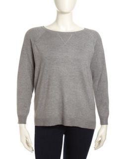 Long Sleeve Raglan Crew Sweater, Womens