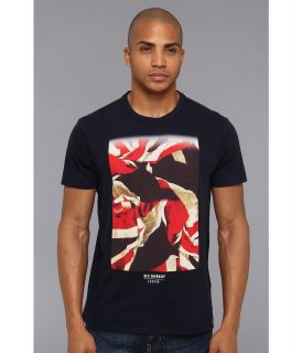 Ben Sherman Flag Print Crew Tee Mens T Shirt (Navy)