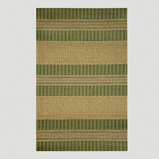 Green Textured Stripe Indoor Outdoor Rug   World Market