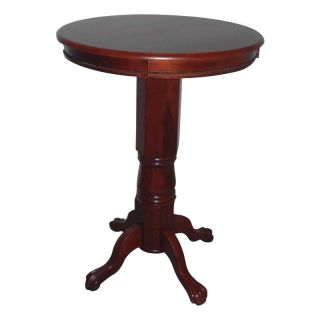 Florence Round Pedestal Pub Table Dark Cherry Multicolor   71242