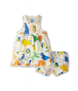 Stella McCartney Kids Ella Baby Girl Dinosaur Print Dress With Bloomers Girls Sets (Multi)