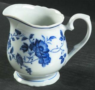 Fine China of Japan Royal Meissen Creamer, Fine China Dinnerware   Blue Floral R