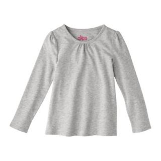 Circo Infant Toddler Girls Long sleeve Tee   Heather Grey 4T