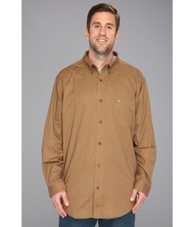 Carhartt Hines Solid L/S Shirt Mens Long Sleeve Button Up (Brown)
