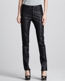 Womens Skinny Faux Leather Pants   Halston Heritage