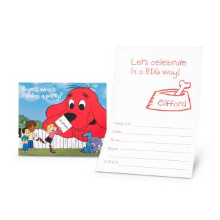 Clifford The Big Red Dog   Invitations