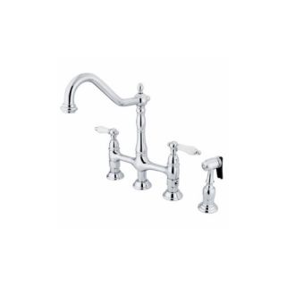 Elements of Design ES1271PLBS New Orleans Two Handle Kitchen Faucet With Spray