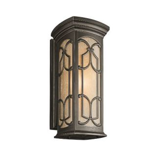 Kichler 49229OZ Outdoor Light, Classic (Formal Traditional) Wall Lantern 1 Light Fixture Olde Bronze