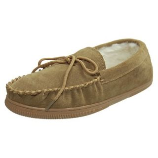 Mens Bosto Faux Suede Slippers Hickory 9