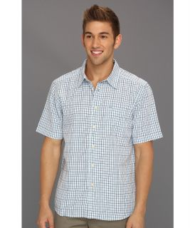 Quiksilver Waterman Corbys Left S/S Shirt Mens Short Sleeve Button Up (Blue)