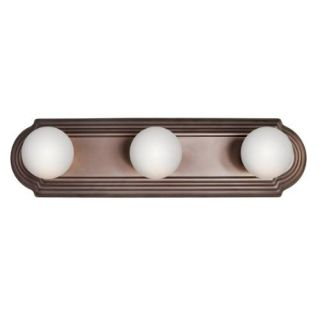 Kichler 5003TZ Bathroom Light, Transitional Bath Strip 3Light Fixture Tannery Bronze