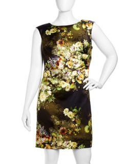 Floral Print Sleeveless Dress, Womens
