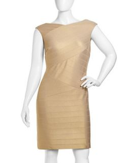 Bandage Knit Sleeveless Dress, Womens