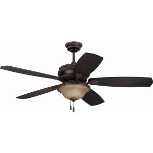 Ellington Fans ELF BTY52ABZG5 Brantley 52 Ceiling Fan with Optional Light Kit,